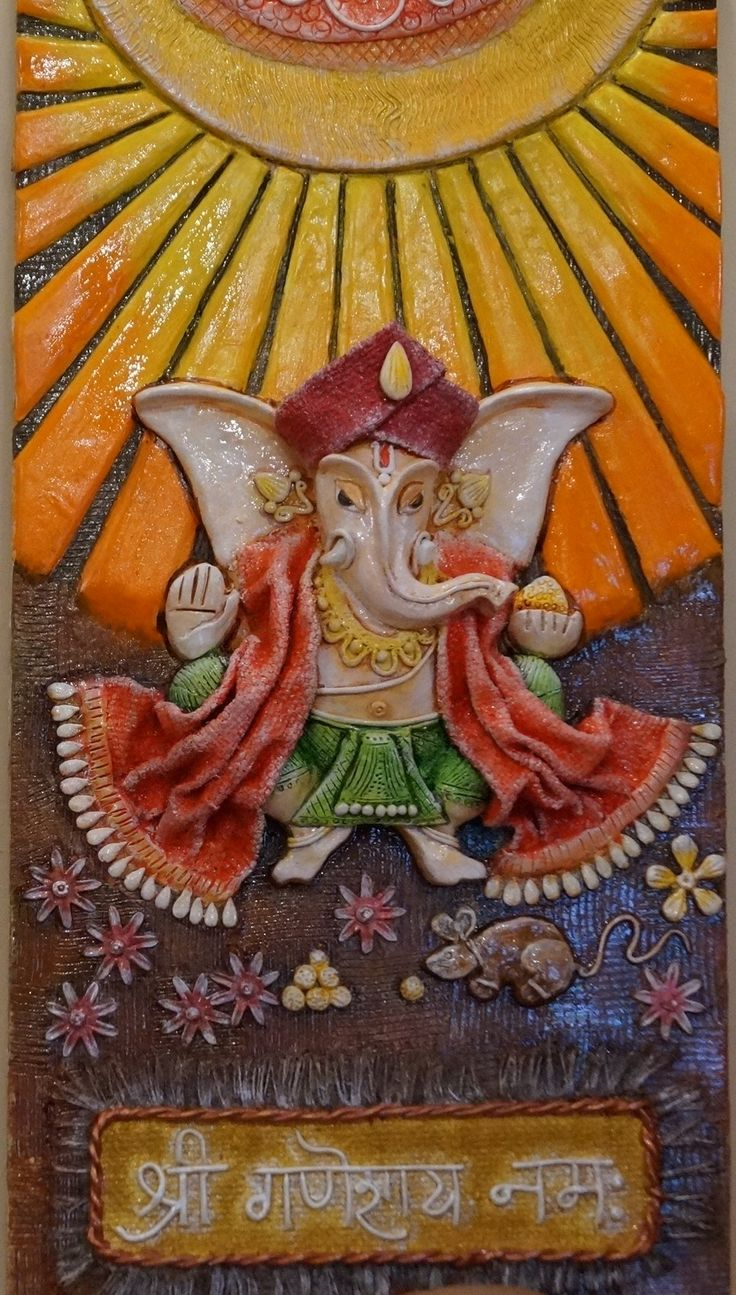 Ganesha mural by ruchi gupta buddha pintura pinterest for Mural art of ganesha
