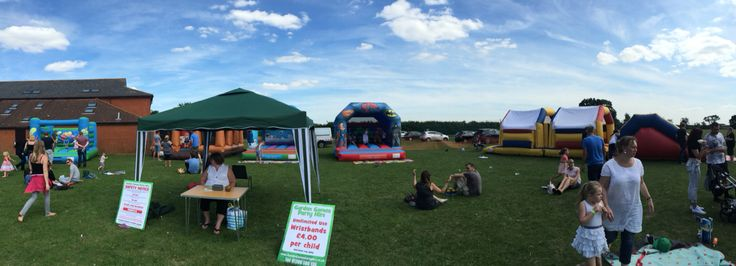 Family fun day at Langham with lots of our inflatables to choose from