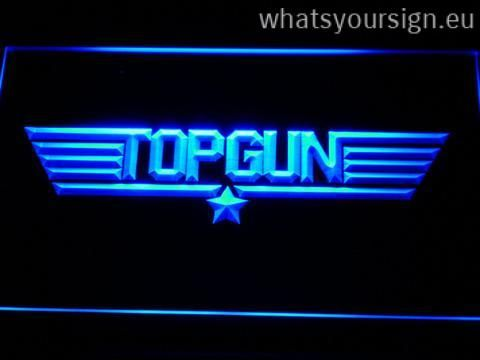 Top Gun - LED neon light sign made of the premium quality transparent acrylic and briliant colorful LED illumination. The neon sign displays exactly the same from all angles thanks to the carving with the newest 3D laser engraving process. This LED neon sign is a great gift idea! The neon is provided with a metal chain for displaying. Available in 3 sizes in following colours: Blue, Yellow, Red, White, Orange, Green and Purple!