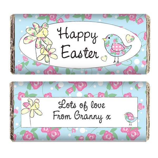29 best easter gift ideas not just chocolate images on pinterest personalised daffodil floral chick easter chocolate bar perfect as a birthday gift for any child gift for son sister daughter brother grandaughter negle Gallery