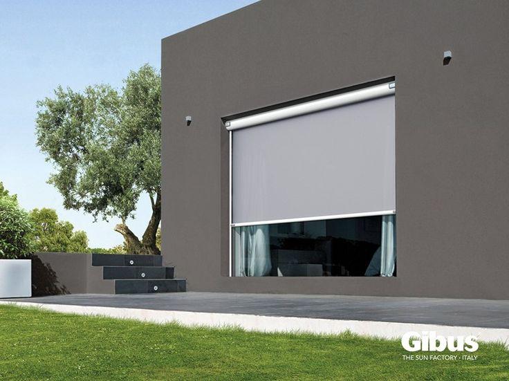 Tenda da sole cassonata motorizzata con guide laterali TOLO GA | Tenda da sole a caduta Linea TOLO by GIBUS | design Eugenio Farina