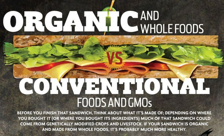 So what are the main differences between organic food and those that are grown conventionally or GMO's? Can you see the difference just by looking at the item in question?