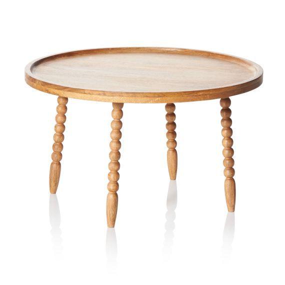 Odkládací stolek Beinen v elegantním retro stylu, soustružené nohy.