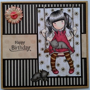 Gorjuss Birthday Card