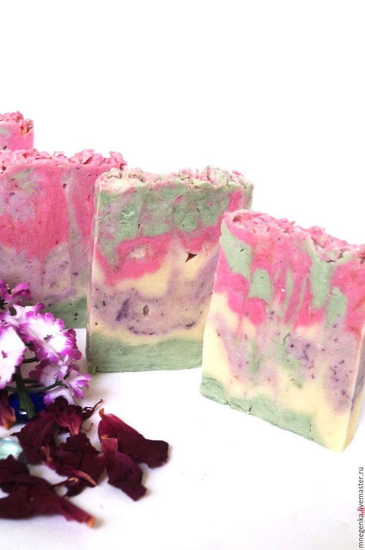"""Купить Натуральное мыло с нуля """"Первоцветы"""", мыло с нуля - комбинированный, натуральное мыло"""