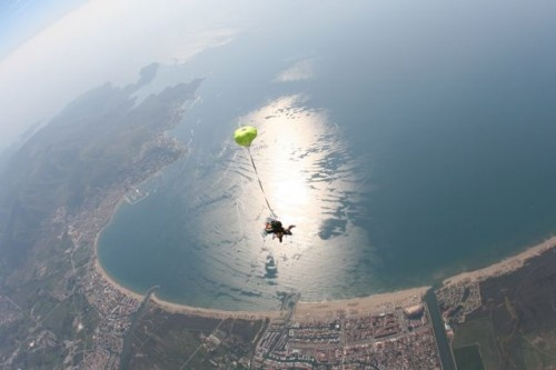 Skydiving in Costa Brava.