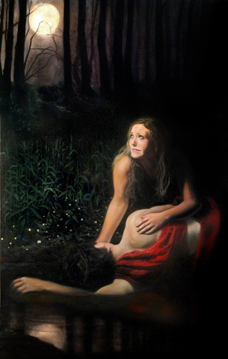 Echo and Narcissus.  One of the saddest stories of Greek Mythology.  Painter Eric Armusik, 2009 This story still happens every day in today's world. Beautiful rendition of the story ending.