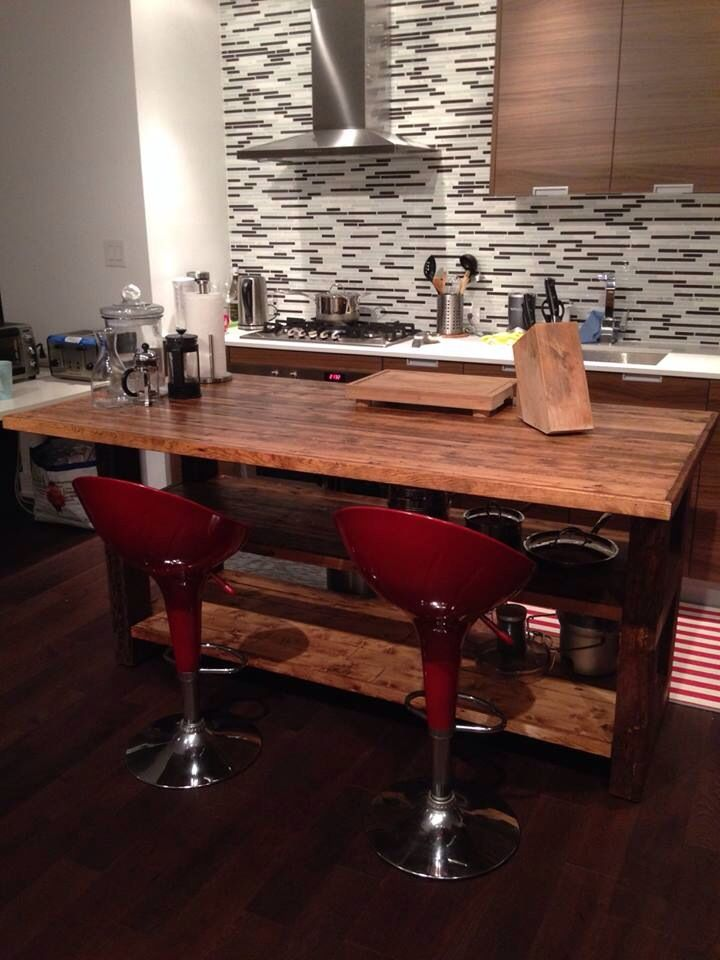 reclaimed wood kitchen island do it yourself pinterest