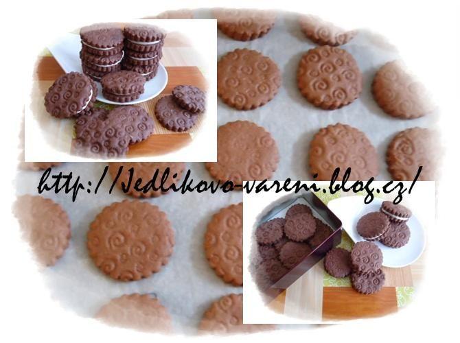 Jedlíkovo vaření: sušenky - domácí sušenky oreo #xmas #christmas #baking #cukrovi #vanoce #susenky #cookies #oreo