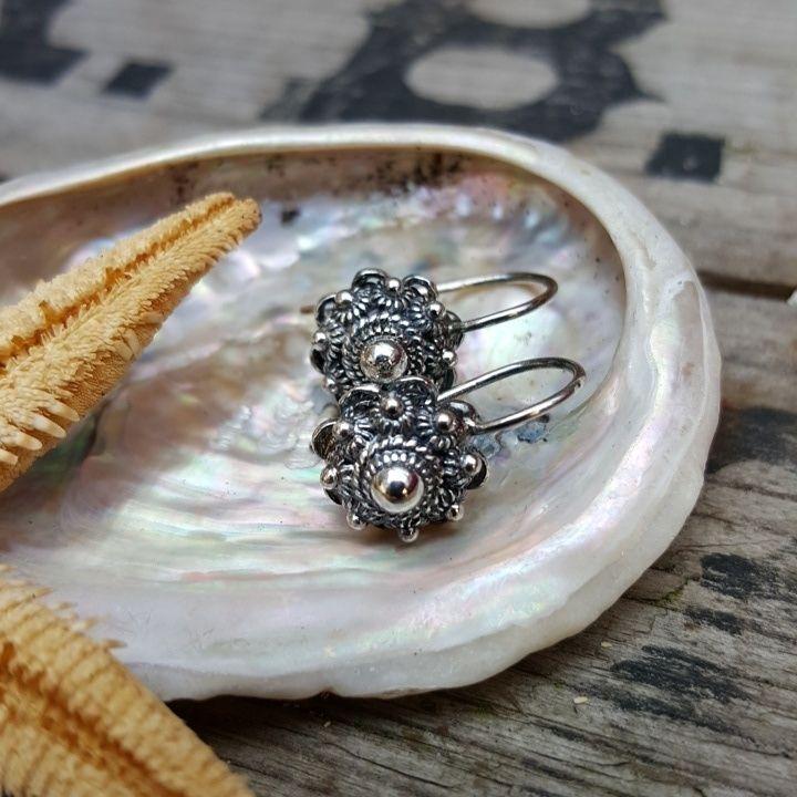 Zeeuwse knoop oorbellen hanger zilver