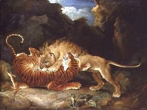 Fight between a Lion and a Tiger, 1797  James Ward