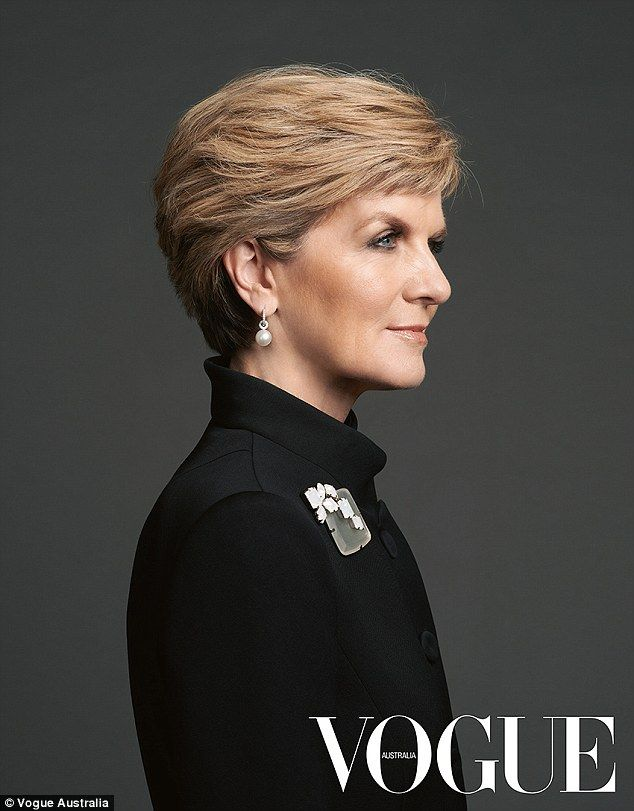 'I'm no different from everybody else': Australia's Foreign Minister Julie Bishop poses wearing Giorgio Armani and Balenciaga in a portrait for Vogue Australia