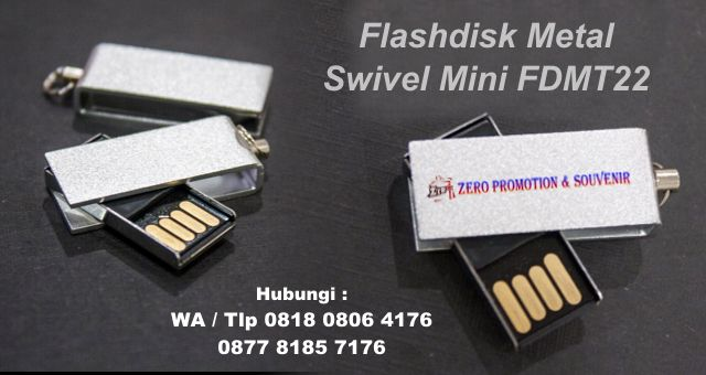 Souvenir Flashdisk Metal Swivel Mini FDMT22