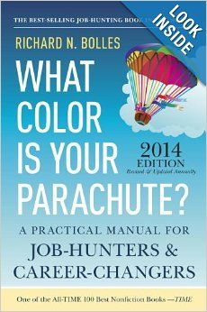 What Color is Your Parachute? / Richard N. Bolles *** Projektilainen suosittelee ***  The world's most popular job-search book is updated for 2014 with up-to-the-minute information and tips for how-to look for work and change careers.