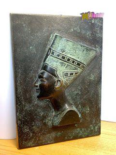 Szerintem szép!: Nefertiti egyiptomi királynő, bronz faliplaket