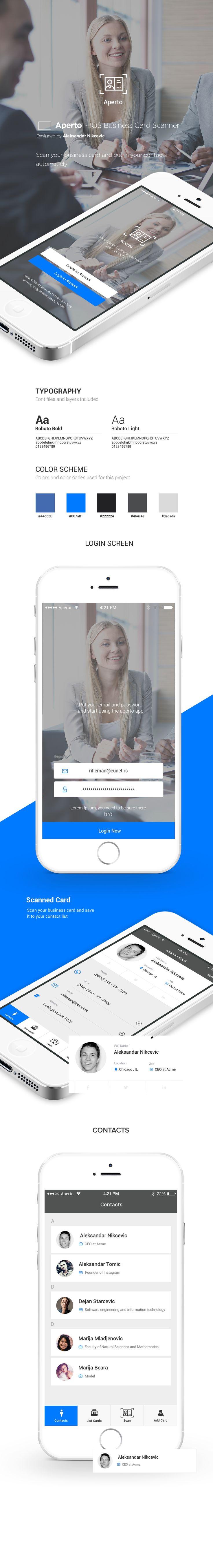 Business Card Scanner App Design on Behance