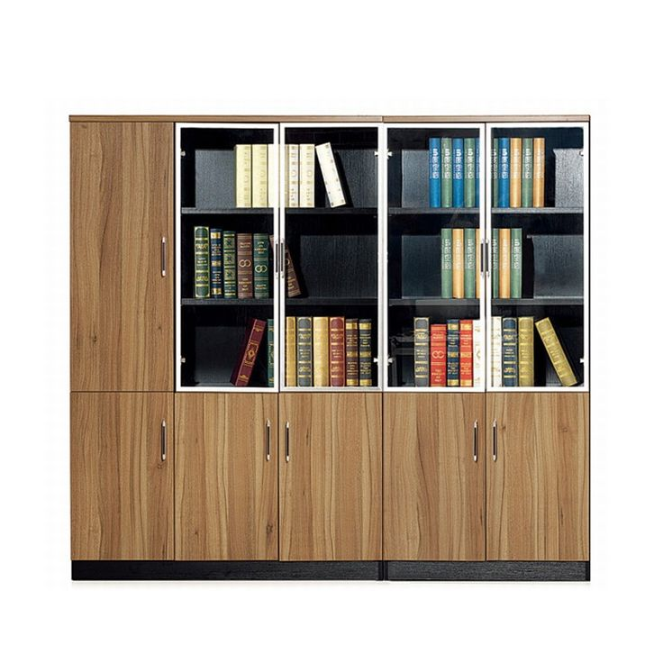 Top quality classic office book cabinet melamine overhead office cabinets