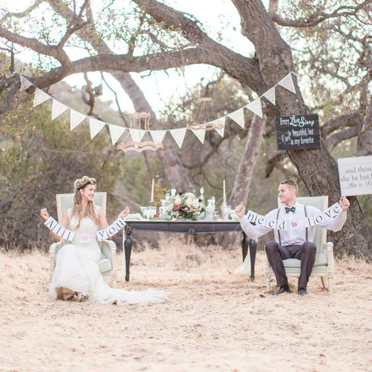 ivory wedding bunting from Baloolah perfect venue decoration and photo prop (42.00 GBP) by BaloolahBunting