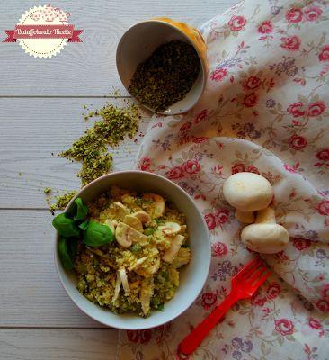 Batuffolando Ricette cous cous conpesto di pistacchi, taccole e champignon