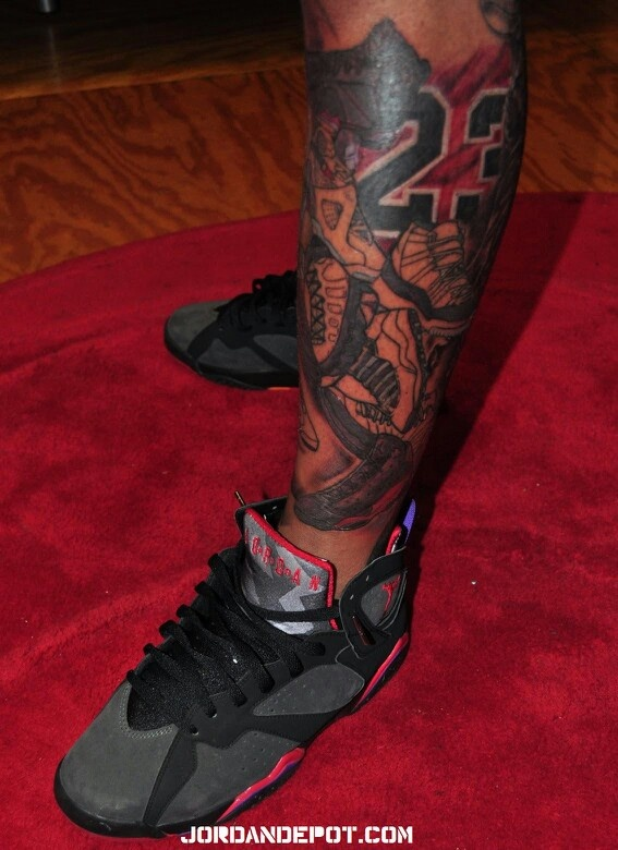 Air Jordan leg tattoo