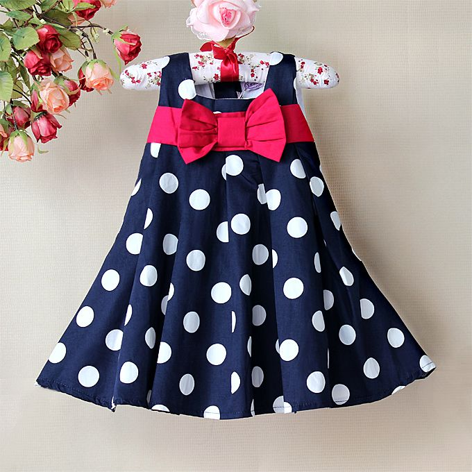 2013 Girl Chiffon Dress, Hot Blue white Dot print High quality beauty sweet comforter princess dresses for baby and children $14.90