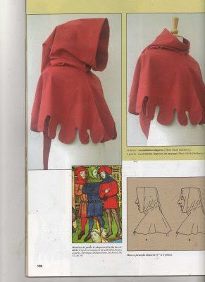 El Costurero Real: Tutorial: Patron para una capucha medieval