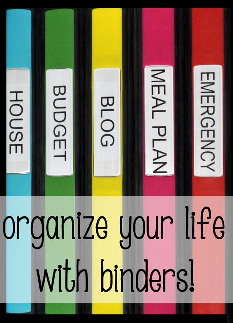 1st post in my Home Management Binder organization series! See all of the supplies you need to get your life organized with binders!