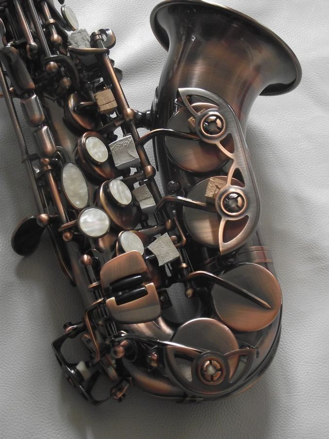 410.40$  Buy now - http://aliqxg.worldwells.pw/go.php?t=32657238395 - Advanced antique Soprano Saxophone Curved SOPRANO sax 410.40$
