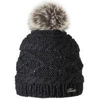 Bonnets Barts - Bonnet noir à pompon Modèle Femme
