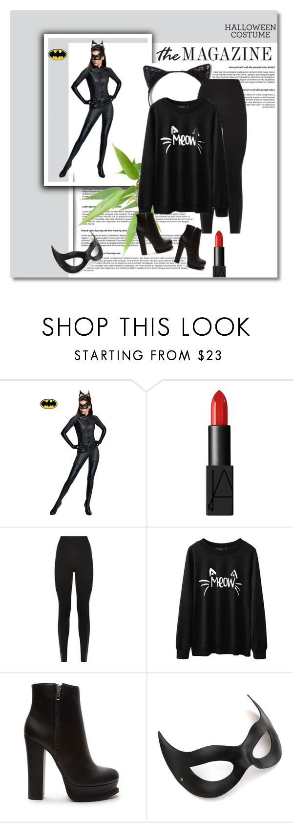 """""""DIY Cat Costume"""" by shell-721 ❤ liked on Polyvore featuring Rubie's Costume Co., NARS Cosmetics, SPANX, Forever 21 and halloweencostume"""