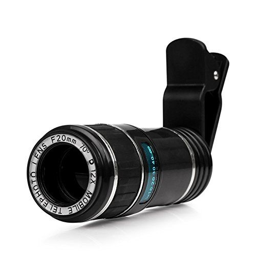 Cellphone Camera Lens ONEVER Universal 12X Zoom Manual Focus Removable Telescope Clipon Camera Telephoto Lens for Smartphone ** Be sure to check out this awesome product.