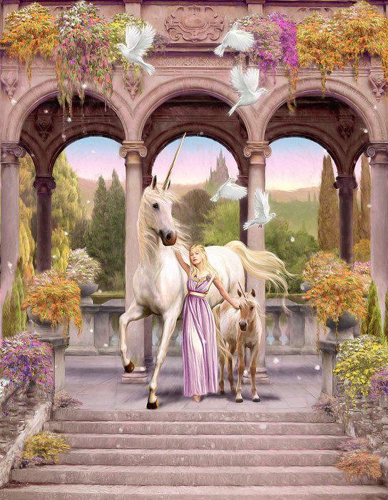Princess Of The Unicorns Variant 1 Print By Garry Walton
