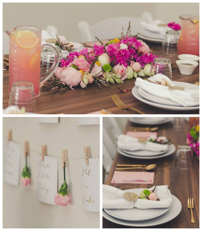 The partyscape is simple yet beautiful, and the floral details . . . breathtaking! This party is sure to have ideas that could be perfect for any elegant affair!