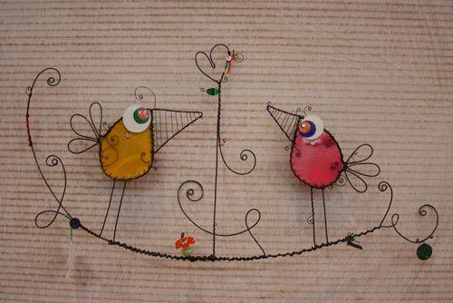 oiseau fil de fer