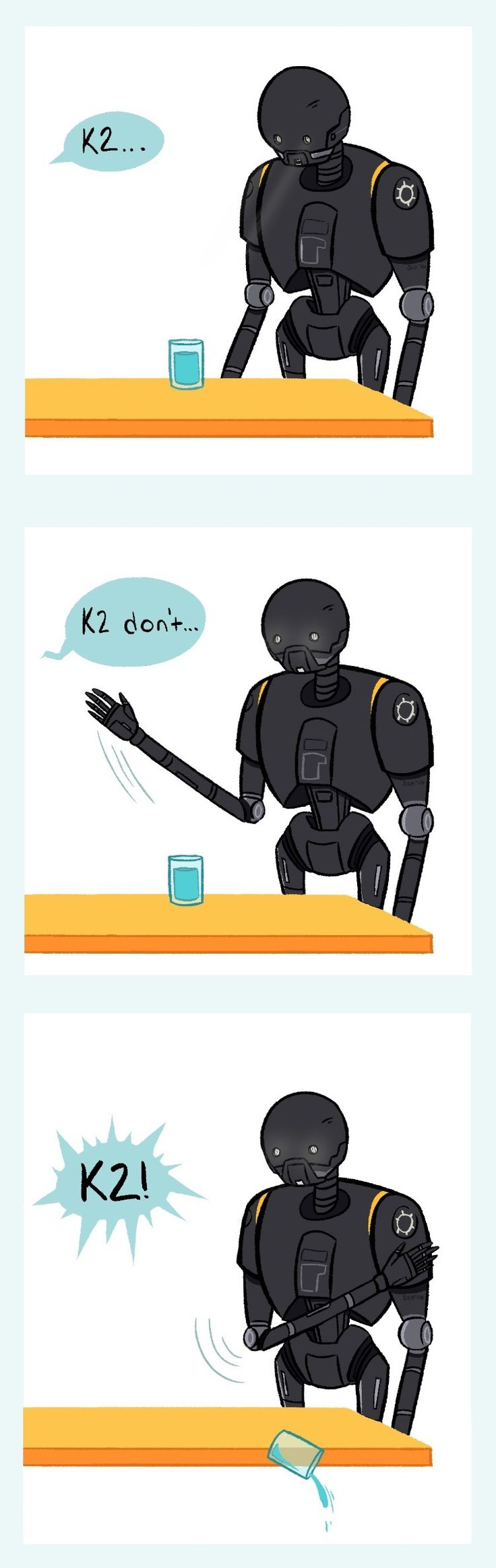 K-2SO: the feline mascot of Rogue One