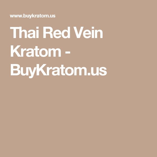 Thai Red Vein Kratom - BuyKratom.us