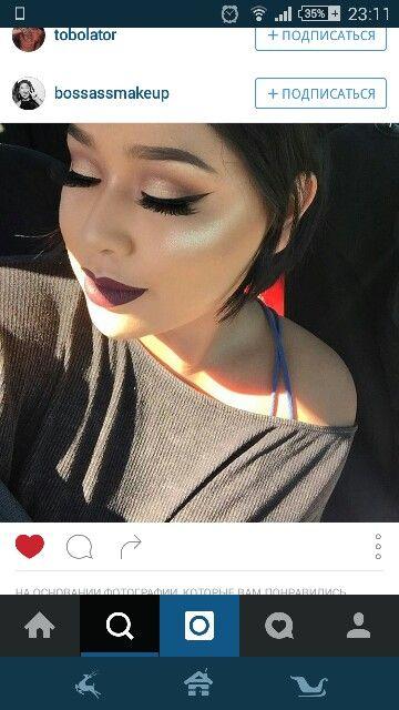 Make up, макияж, стрелки,  матовые губы