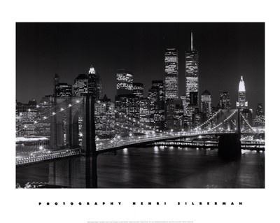 New York, New York, Brooklyn Bridge Art Print by Henri Silberman