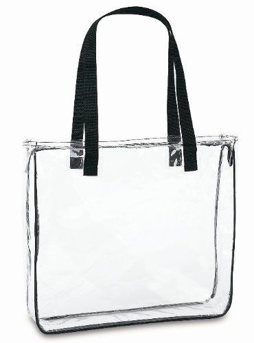 Clear Tote Bag With Black Handles By Clear Handbags Amp More