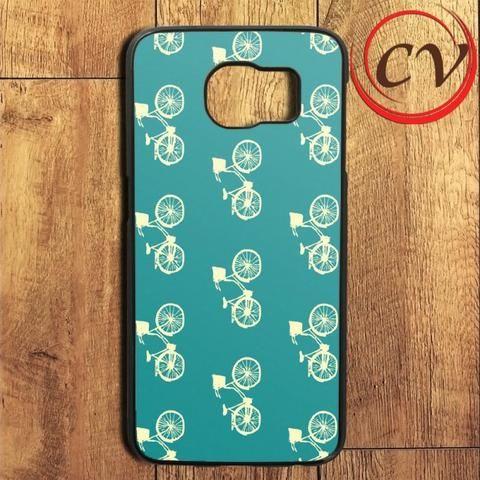 Blue Pattern Bike Samsung Galaxy S6 Edge Plus Case