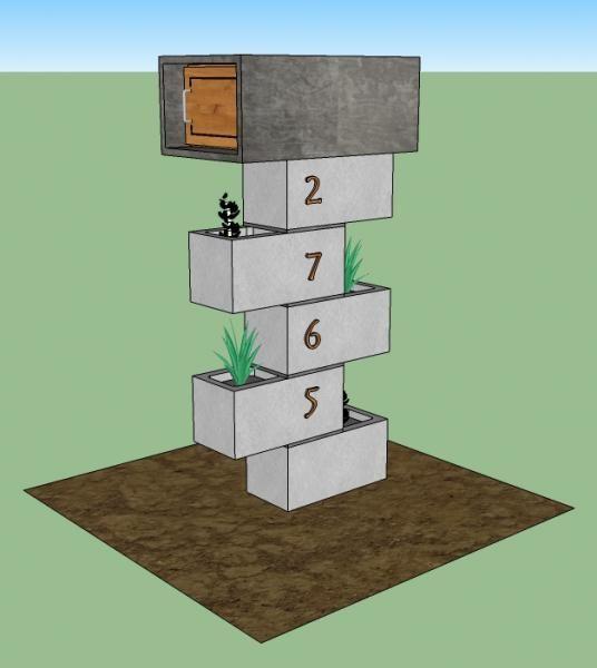 Cement block mailbox                                                       …