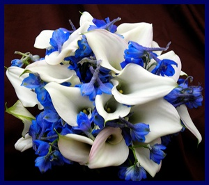 Naturally Blue Flowers Delphiniums Idea For Centerpiece Possibly In The Tall Cylinder Vases