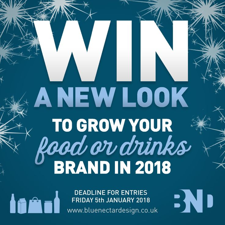 WIN A NEW LOOK IN 2018*  Is your product left on the shelf or flying off the shelves?  We at Blue Nectar Design invite you to enter your product or brand for a chance to win *a compelling, new branded packaging design for 2018. We're offering a new look for 2018 to any food or drinks product or brand looking to make its debut or discover itself a fresh new look in the New Year.  For full details and to enter CLICK THE LINK ABOVE. #BlueNectarWIN #shelfimpact