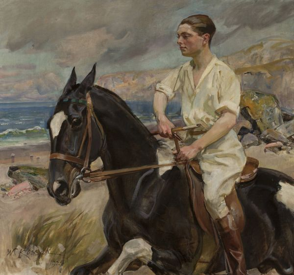 Portret p. Herthier de Boislambert na koniu - Wojciech Kossak