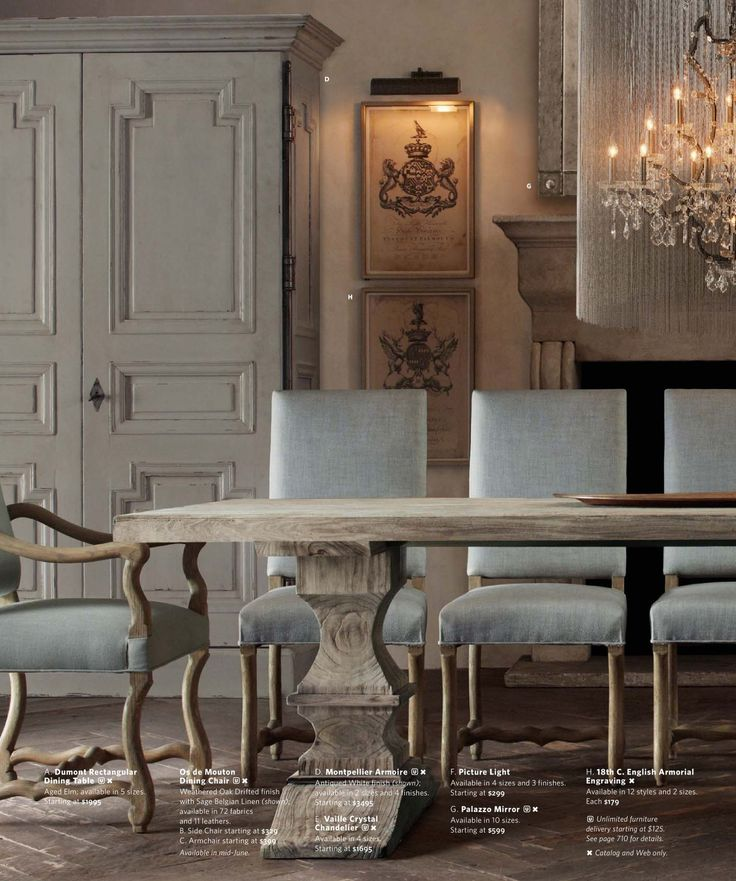 17 best images about dining room decorating colors and for Restoration hardware dining room ideas