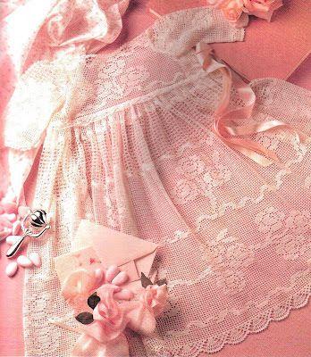 Toca do tricot e crochet: Lindo vestido em crochet filet com grafico !!!