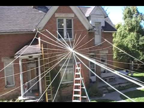 cool spider web tutorial - Halloween Spider Decoration