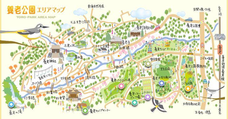 地図:養老公園エリアマップ