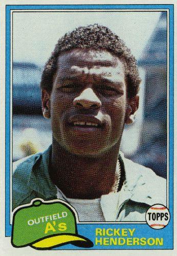 Rickey Henderson # 261 - 1981 Topps Baseball
