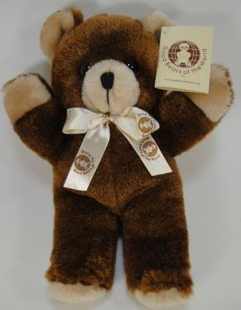 """Goodie Bear Made especially for Good Bears of The World! 12"""" soft plush bear with safety eyes.   Buy one today or order larger quantities!   USD $9.00"""